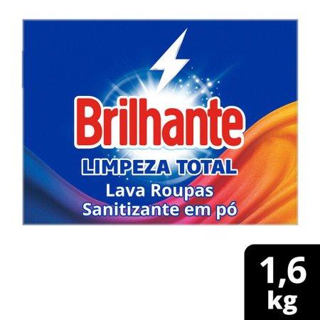 Kit 4 Sabão em Pó Brilhante Limpeza Total 1,6kg