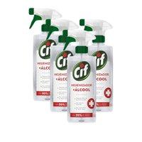 Kit 4 Higienizador Álcool Cif Líquido Sem Perfume 500ml