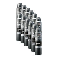 Kit 12 Desodorantes Dove Men+Care Antitranspirante Aerossol Invisible Dry 150ml