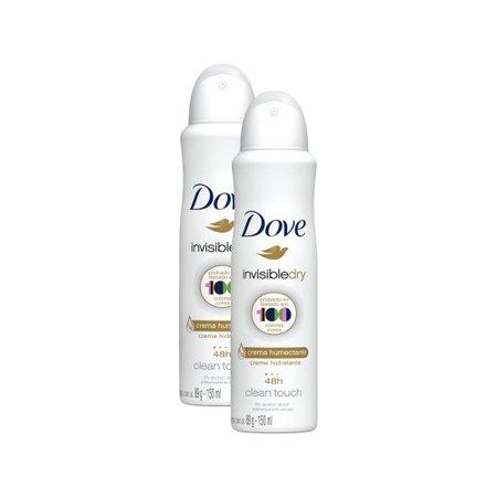 Kit 2 Desodorantes Dove Antitranspirante Aerossol Invisible Dry 150ml