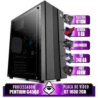 Computador intel G4560, H110M, GT 1030 2GB, 8GB, SSD 240GB, 400W