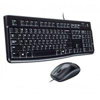 Kit Teclado e Mouse com fio Logitech Mk120 USB