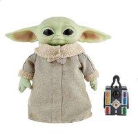 Star Wars Pelúcia Baby Yoda Com Movimentos 27 Cm - Mattel