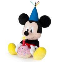Pelúcia Mickey Happy Birthday com Som Alimentação por 3 Baterias LR44 Indicado para +18 Meses Multikids - BR375