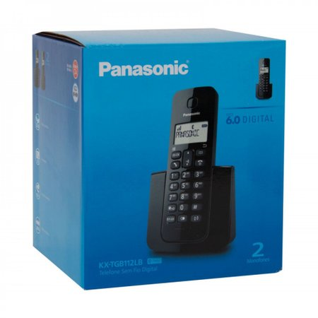 Telefone Panasonic S/ Fio Kx-tgb112lbb C/id Base  Ramal