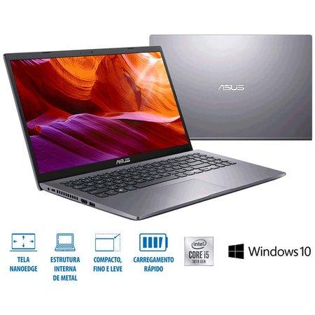 Notebook ASUS X509JA-BR423T, Intel Core i5-1035G1, RAM 8 GB, HD 1 TB, Windows 10 Home - Cinza Escuro