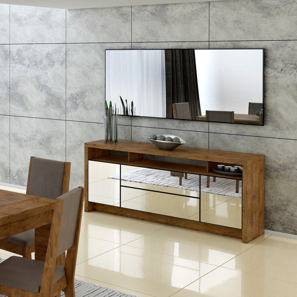 Aparador Grande Para Sala Sala De Jantar Com Espelho At A Altura Do  -> Aparadores Para Sala Porto Alegre