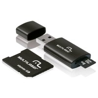 Cartão Micro SD Multilaser 8GB com Adaptador para Pen Drive e SD - MC058