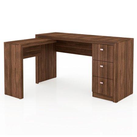 Mesa para Computador Tecno Mobili, 3 Gavetas - ME4101