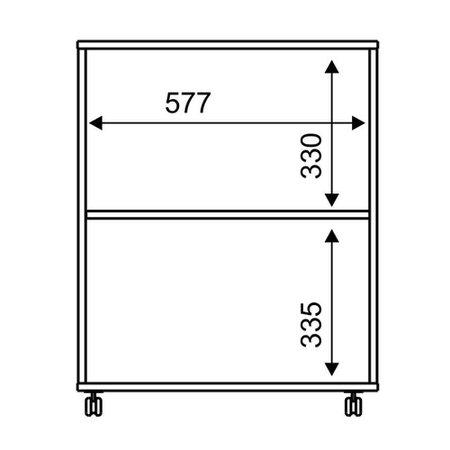 Balcão Multiuso Tecno Mobili, 2 Portas - BL3300