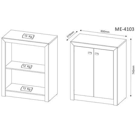 Balcão Tecno Mobili, 2 Portas - ME4103