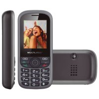 Celular Multilaser UP Preto e Cinza, Bluetooth, Dual Chip, Câm., MP3, Rádio FM