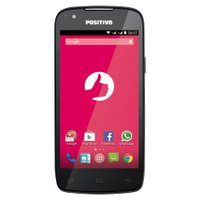 Smartphone Positivo, Dual Chip, 3G, Android 4.4, 8GB, 8MP, Preto - S480