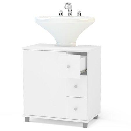 Balcão para Banheiro Politorno, 1 Porta, 3 Gavetas - 3386