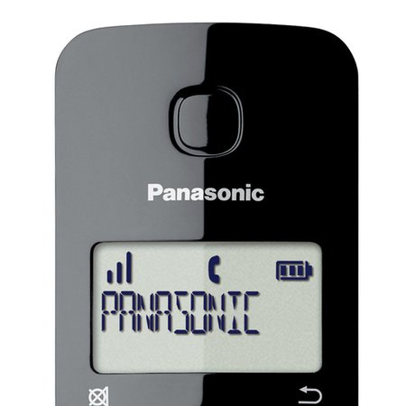 Telefone Sem Fio Combo Panasonic Preto, com ID de chamadas - TGB112LBB