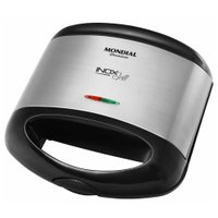 Grill Sanduicheira Mondial Inox Premium, 800W - S-07