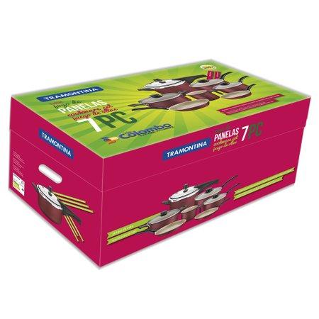 Conjunto de Panelas Tramontina Turim, 7 Peças, Vermelho - 20298/778