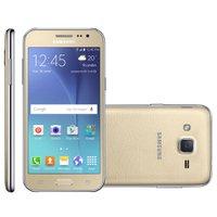 Smartphone Samsung Galaxy J2 Duos, 4G, Android 5.1, Dourado - J200BT