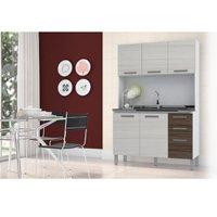 Cozinha Compacta Kit's Paraná Fascine, 5 Portas, 3 Gavetas