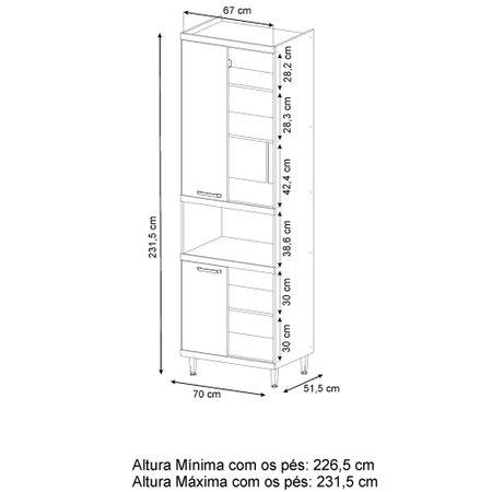 Torre Quente Multimóveis Sicília, 4 Portas, 1 Nicho - 5117