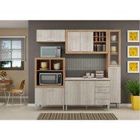 Cozinha Compacta com Tampo Fellicci Style, 8 Portas, 4 Gavetas - 03