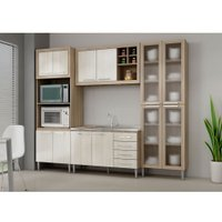 Cozinha Compacta Fellicci Style, 12 Portas, 4 Gavetas - 09