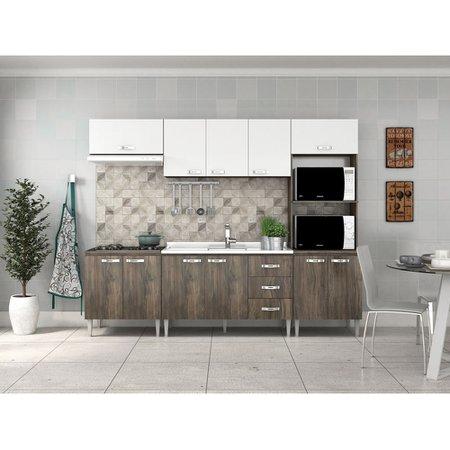 Cozinha Compacta Fellicci Master, 11 Portas, 3 Gavetas - 03
