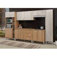 Cozinha Compacta com Tampo Fellicci Master, 12 Portas, 3 Gavetas - 05