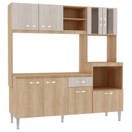 Cozinha Compacta com Tampo Fellicci Tati, 8 Portas, 1 Gaveta - CC70T
