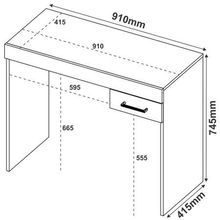 Mesa para Notebook Artely Cooler com 1 Gaveta