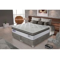 Conjunto Cama Box Super King Molas Pocket Gazin Prime Visco - 193x203