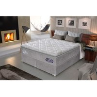 Conjunto Cama Box Super King Molas Pocket Gazin Prime Látex - 193x203