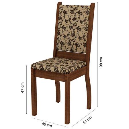Conjunto Mesa Retangular com Tampo de Vidro com 6 Cadeiras Madesa Lisboa