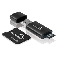 Cartão Micro SD Multilaser 16GB com Adaptador para Pen Drive e SD - MC112