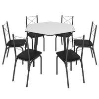Conjunto Mesa Dobrável com 6 Cadeiras Brastubo Sydnei