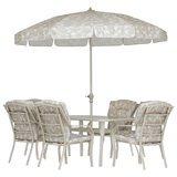 Conjunto de Mesa com 6 Cadeiras e Guarda-Sol Mor Bali - 9014