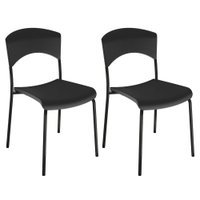 Kit 2 Cadeiras Fixas UAU Móveis Little Way