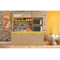 Cozinha Compacta Gralar Jasmin, 6 Portas, 1 Gaveta - 219