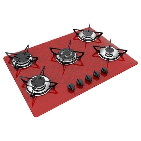 Cooktop CasaVitra Tetris 5 bocas Tripla