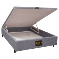 Base para Cama Box Casal com Baú Herval Idea 1800 - 138x188