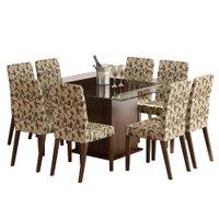 Conjunto Mesa Quadrada com 8 Cadeiras Madesa Aprillia