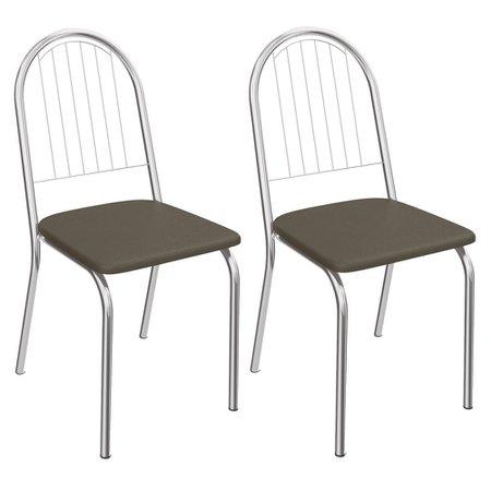 Kit 2 Cadeiras Kappesberg Noruega 2C077CR
