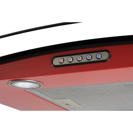 Coifa Fogatti CVC90 vermelha