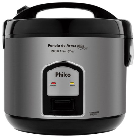 Panela de Arroz Philco, 10 xícaras de arroz, Visor Glass, 700W - PH10