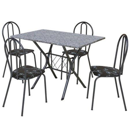 Conjunto Mesa Retangular com 4 Cadeiras Artefamol Valentina