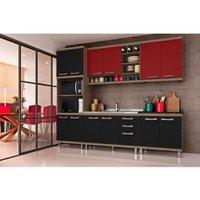 Cozinha Compacta Hecol Florença, 12 Portas, 3 Gavetas - FL1009