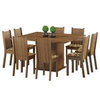 Conjunto Mesa Quadrada com 8 Cadeiras Madesa Jeni