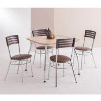 Conjunto Mesa Quadrada com 4 Cadeiras Unimóvel - 4007+434