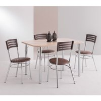 Conjunto Mesa Retangular com 4 Cadeiras Unimóvel - 4101+434