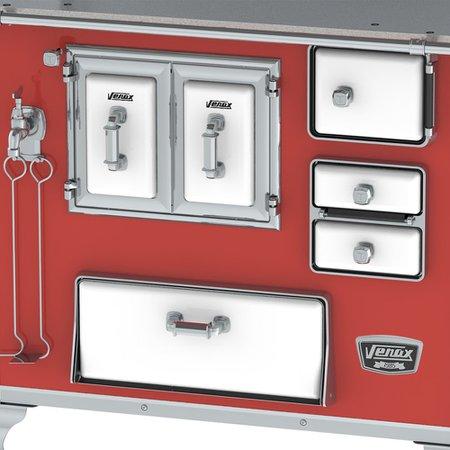 Fogao a Lenha Nº2 Gabinete Classic Vintage Venax Vermelho SE